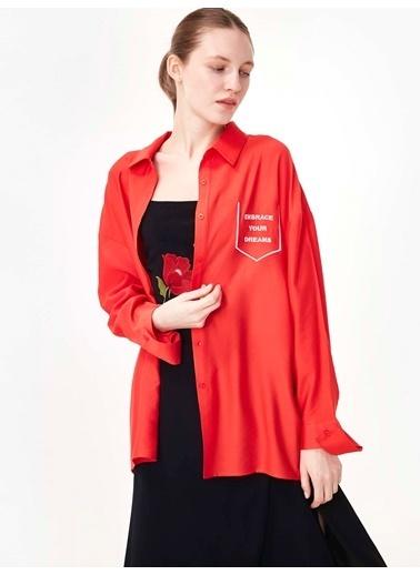 Twist Gömlek Kırmızı